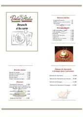 menu brunch et formule