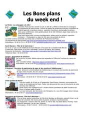 les bons plans du week end semaine n 24 2013