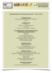 programme des animations EtE 2013 1