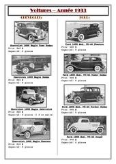 voitures 1933