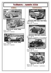 voitures 1934