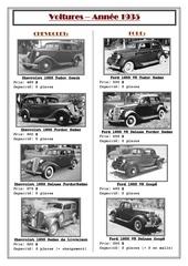 voitures 1935