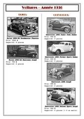 voitures 1936