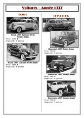 voitures 1937