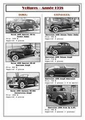 voitures 1938