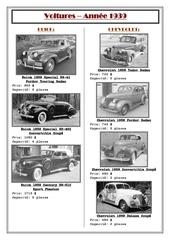 voitures 1939