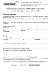 formulaire d inscription agence