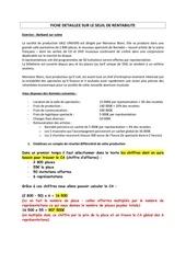 Fichier PDF fiche detaillee sur le seuil de rentabilite