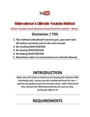 malevolences infinite youtube views method