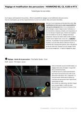 modification des percussions hammond b3 c3 a100 rt3