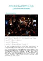 paris jazz club festival ateliers de sensibilisation