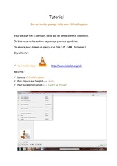 tutoriel extraire une sequence video avec vlc copy