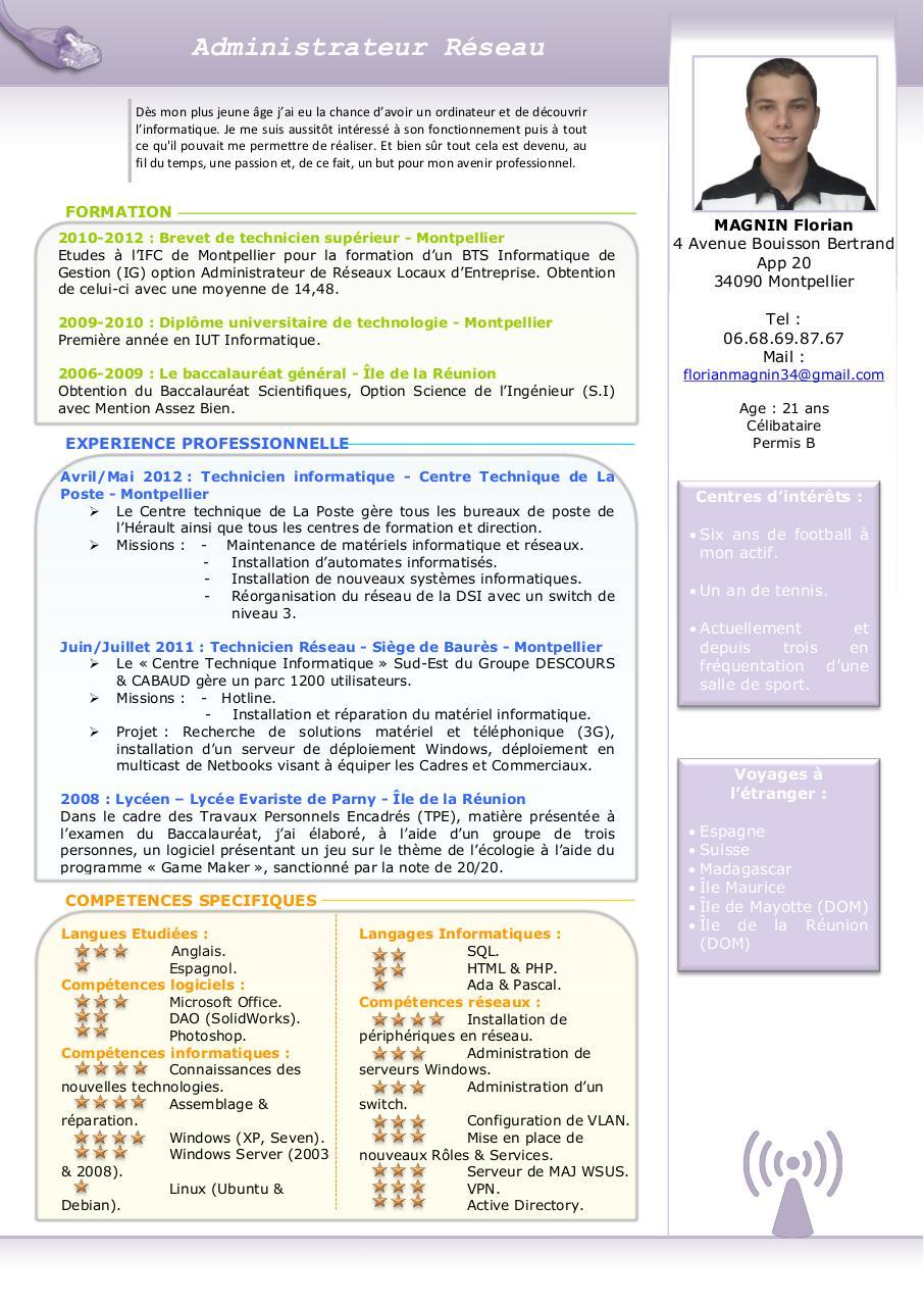 cv magnin florian pdf par free cv