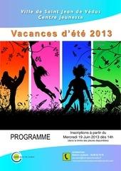 programme Ete 2013