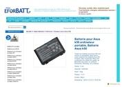 www eforbatt com asus k50 html