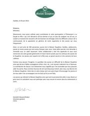 lettre maison dauphine