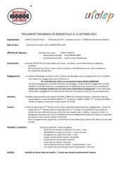 reglement endurance benoistville 2013