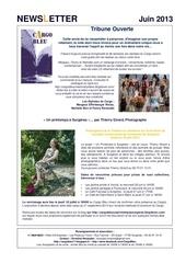 cargo bleu newsletter juin 2013