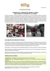 communique de presse collectif de taksim 20 juin 2013