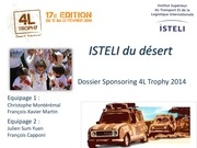 dossier sponsoring isteli du desert