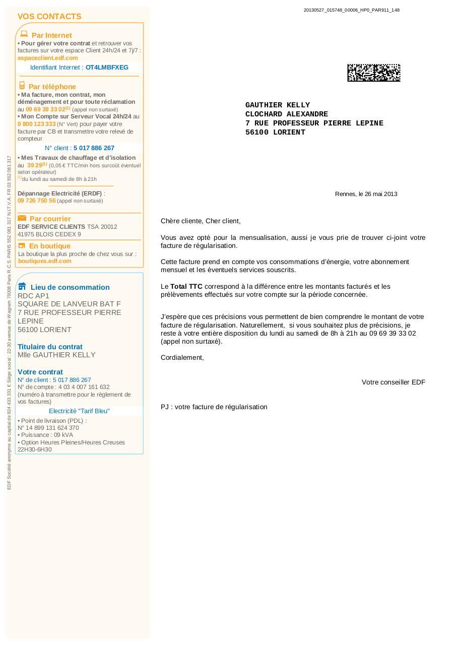 Aper u du fichier page 1 4 - Edf fr rubrique facture ...