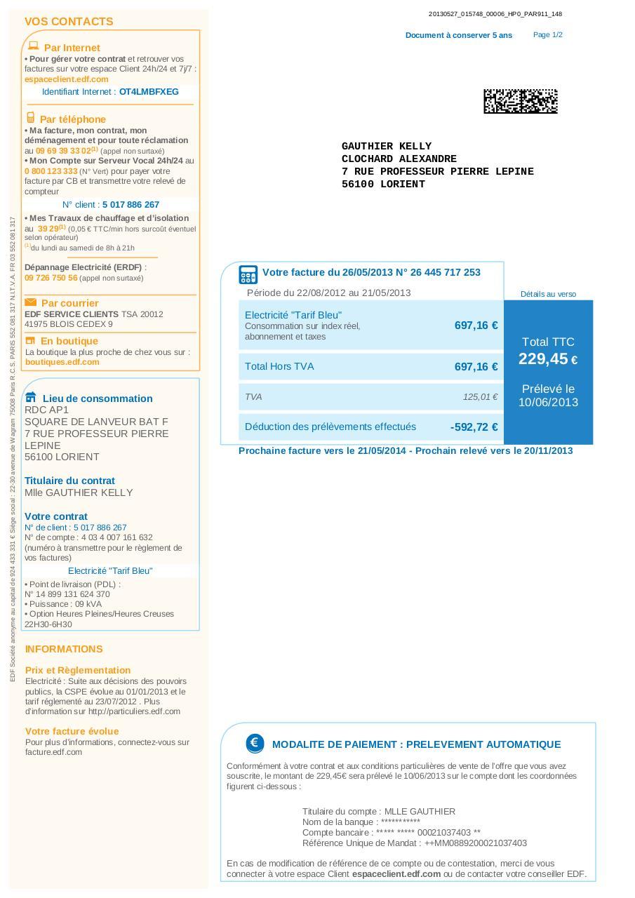 facture26445717253 par edf direction commerce page 4 4 fichier pdf. Black Bedroom Furniture Sets. Home Design Ideas