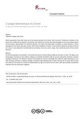 Fichier PDF l usage talismanique du coran
