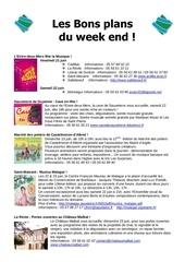 les bons plans du week end semaine n 25 2013