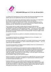 declaration sud pour ctce du 28 mai 2013