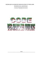 code des marches algerien