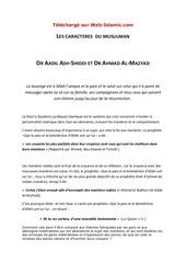 Fichier PDF les caracteres du musulman