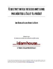 priere nouveau muslim