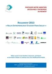 reglement rallye peeps 2013