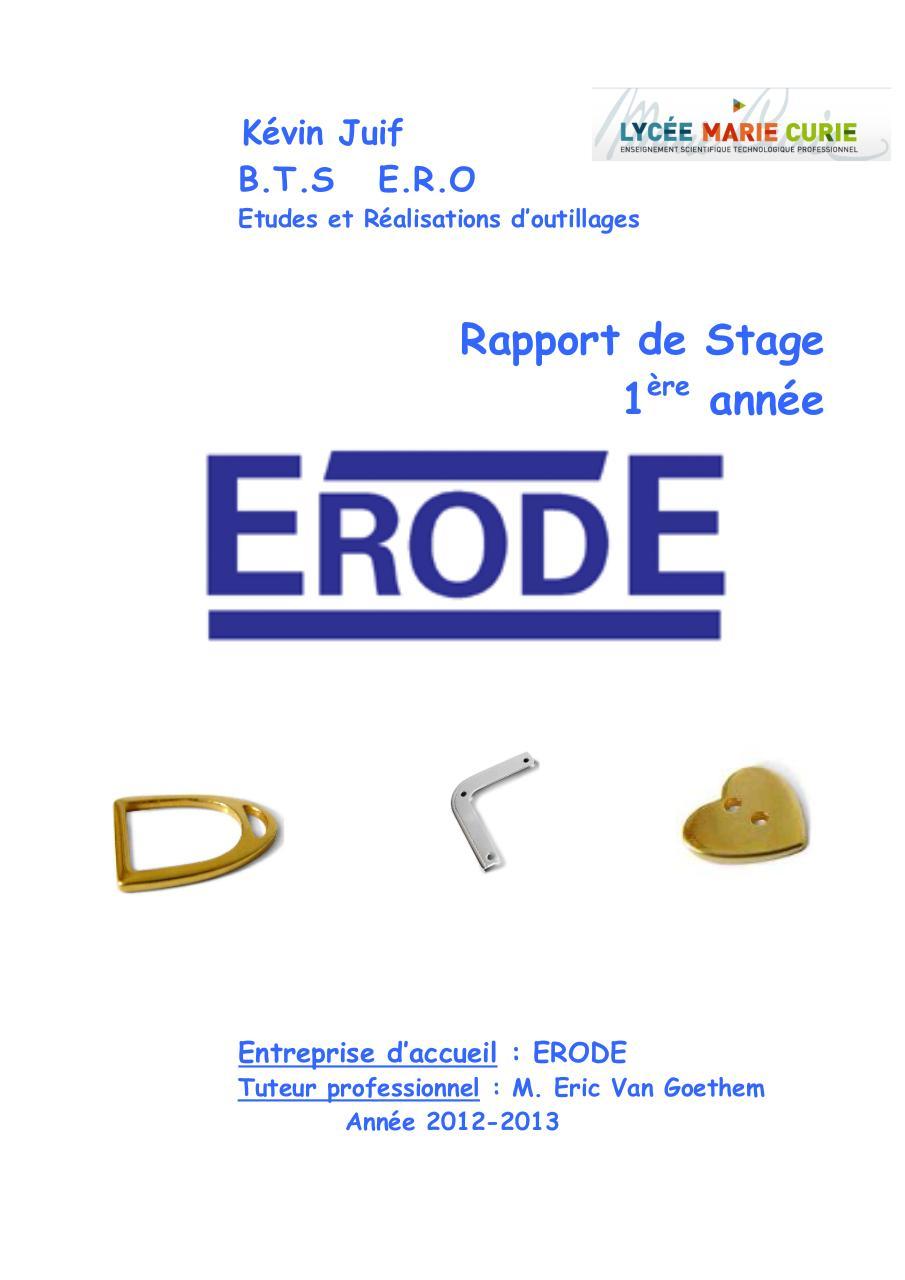 Couverture Rapport Stage Par Cochard Fichier Pdf