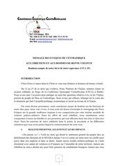 message au peuple de centrafrique
