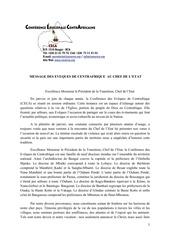Fichier PDF message des eveques de centrafrique au chef de l etat