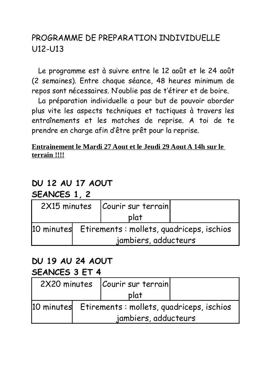 Aperçu du document PROGRAMME DE PREPARATION INDIVIDUELLE U13.pdf - page 1/1