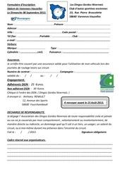 Fichier PDF formulaire engagement slalom