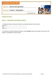 brevet 2013 histoire geo