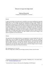 2 mesurerisque hedgefunds