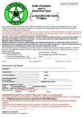 feuille d inscription de la rando de 29 09 2013