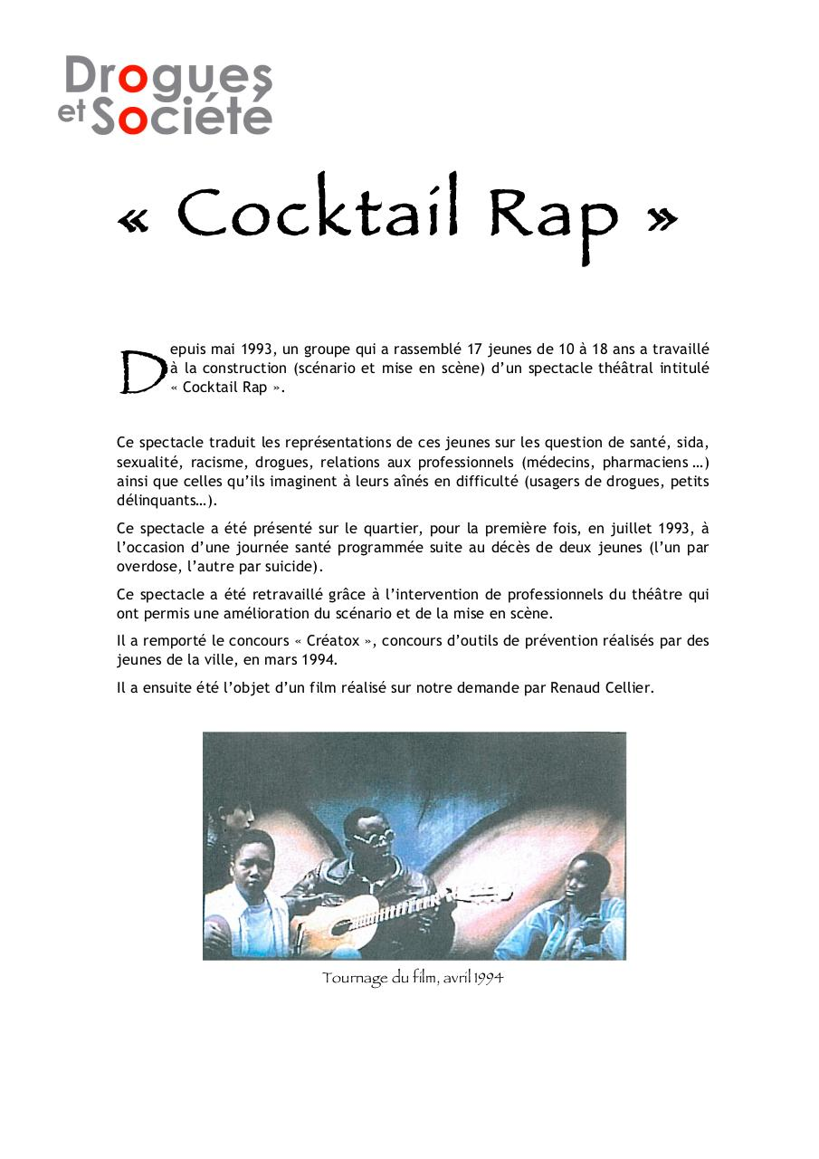 Aperçu du document 1993_CocktailRap.pdf - page 1/1