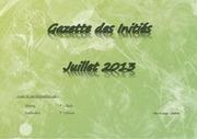 gazette des inities juillet 2013