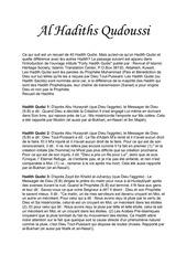 Fichier PDF hadith qudoussi
