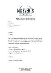 Fichier PDF formulaire adhesion mgevents