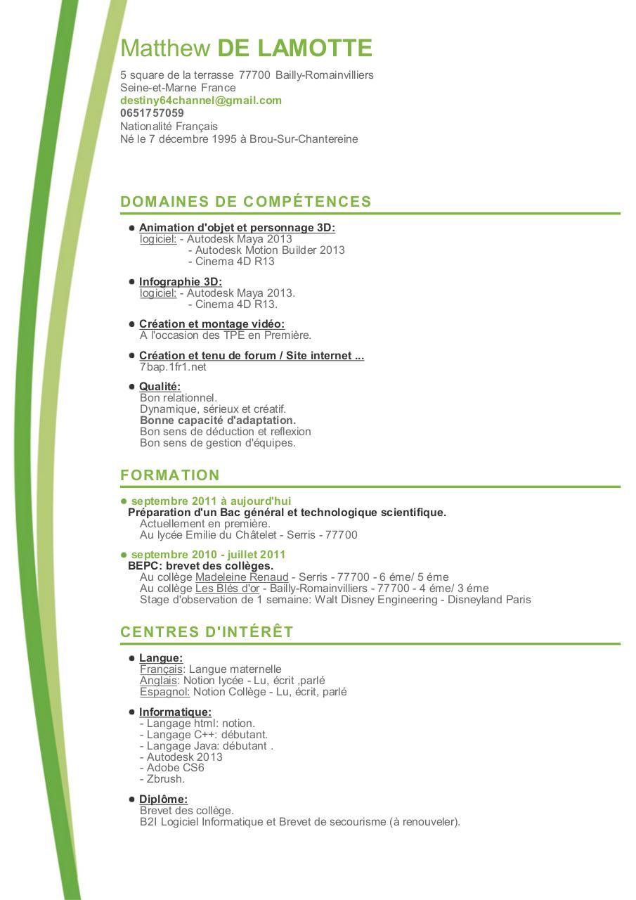 fichier pdf  cv matthew de lamotte