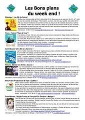 les bons plans du week end semaine n 27 2013