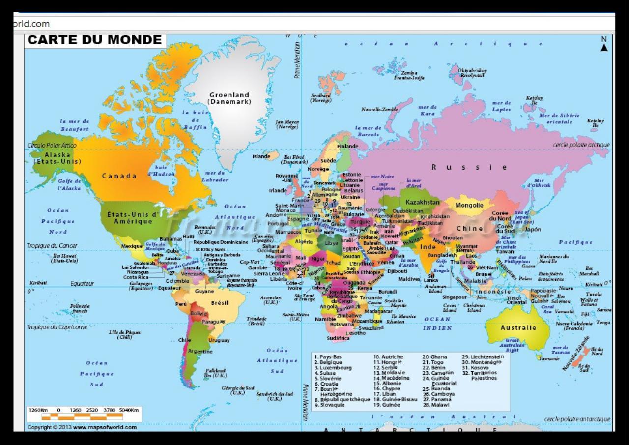 carte du monde pdf Carte du monde   Fichier PDF