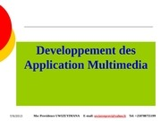developement des application multimedia bacc iii