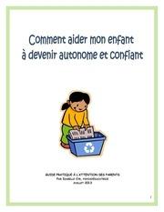 autonomie de l enfant